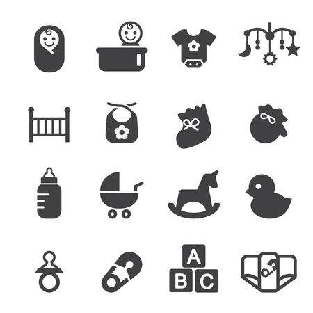 and blocks: baby icon set