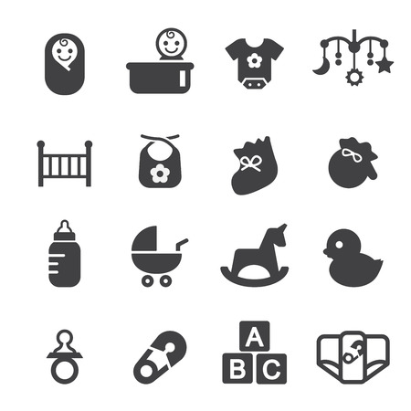 sonaja: bebé conjunto de iconos Vectores
