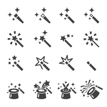 magia: Conjunto de iconos de la magia Vectores
