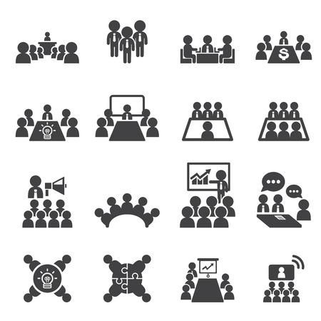 sala de reuniones: icono de congresos y negocios Vectores