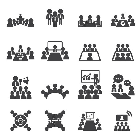 Konferenz-und Business-Symbol Vektorgrafik