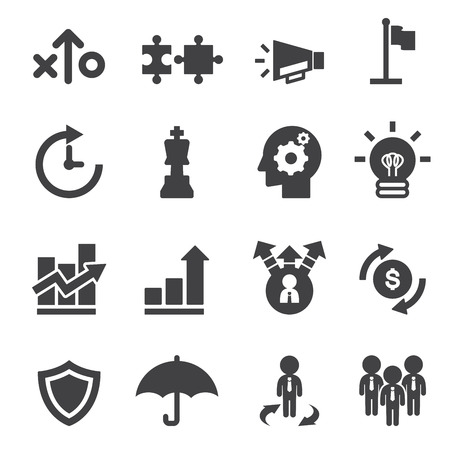 strategy decisions: marketing strayegy icon Illustration