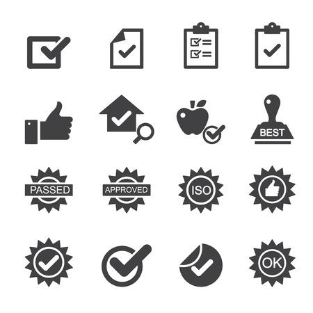 Icônes de contrôle de qualité Banque d'images - 38999304