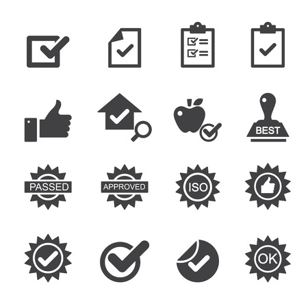 checklist: quality control icons