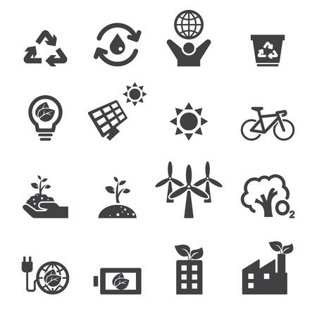 energia solar: guardar los iconos de la tierra