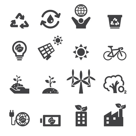energy save: save the earth icons Illustration