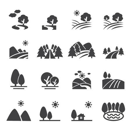 paisajes: icono de paisaje