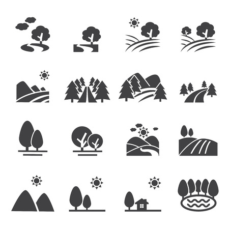 landschap pictogram