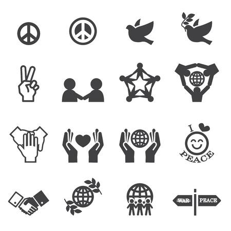 Peace Icons  イラスト・ベクター素材