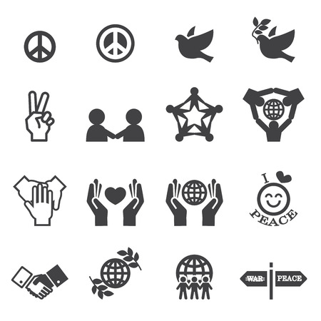 World war 2: Peace Icons Illustration