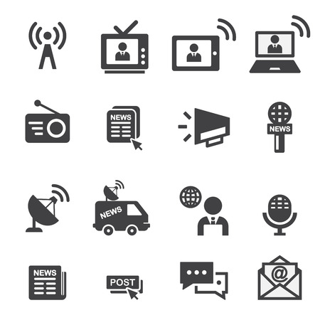 new icon set Stock Illustratie