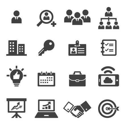 communication icon: business icon