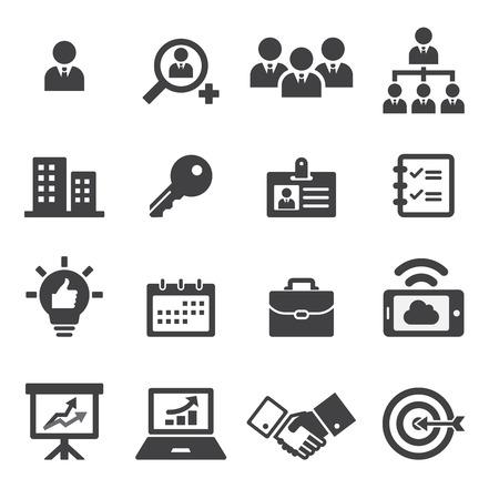 gestion empresarial: icono empresarial Vectores