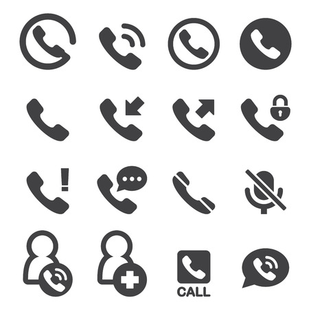 miss call: phone and call icon