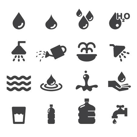 water icon set Vettoriali