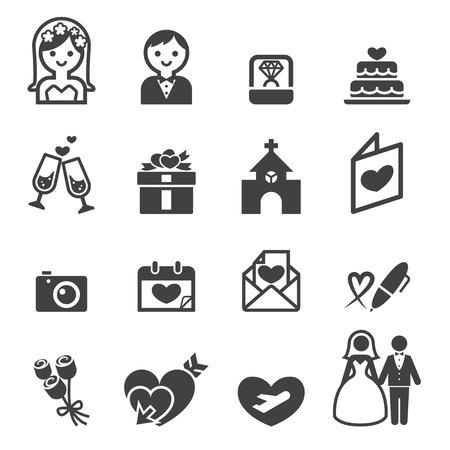 wedding icon  イラスト・ベクター素材