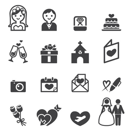 wedding icon Ilustrace