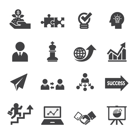 clip art people: business icon set
