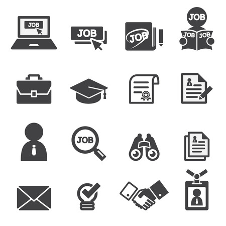 job icon set Vectores