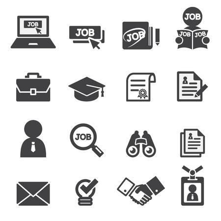 cv: trabajo conjunto de iconos Vectores