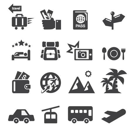 excursions: travel icon set