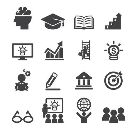 cv: icono de la educación de negocios Vectores