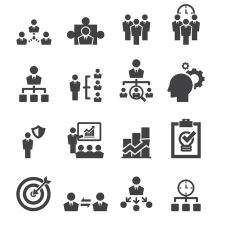 gestion empresarial: gestionar icono Vectores