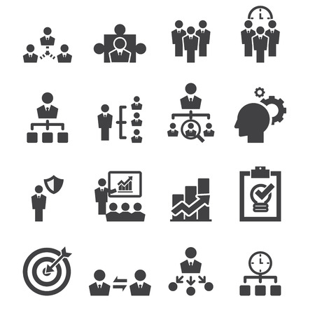 communication icons: manage icon Illustration