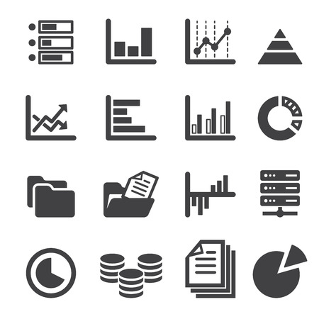 finance manager: data icon set