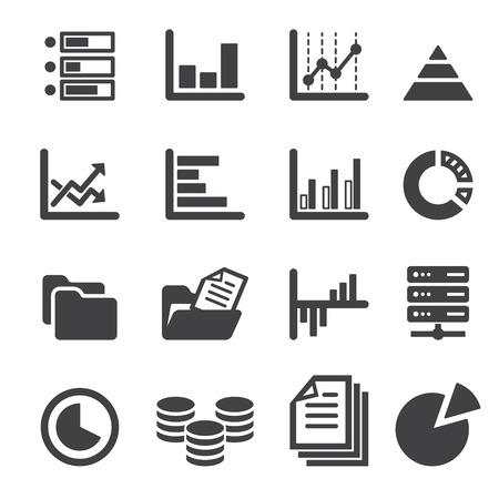 document management: icono de datos conjunto Vectores