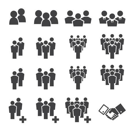trabajo social: equipo conjunto de iconos