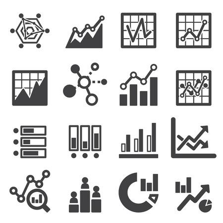 analytics, icône, ensemble Illustration