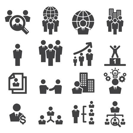 ejecutiva en oficina: icono de los recursos humanos