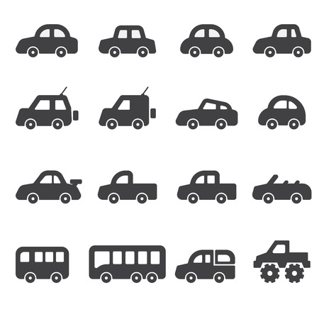 car icon set Stock Illustratie