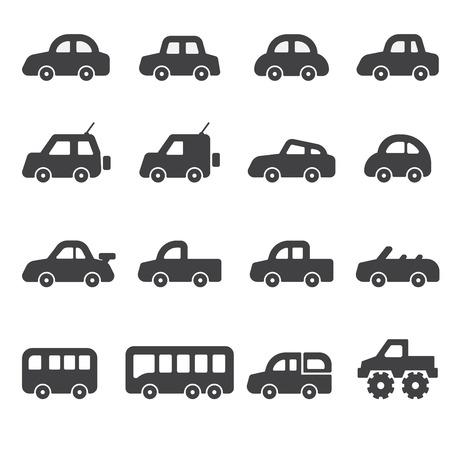 car icon set Vectores