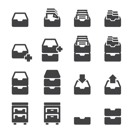 cabinet icon set Vector