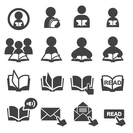 read icon set 일러스트