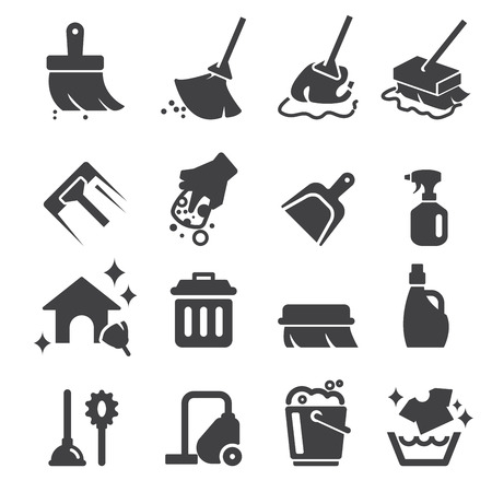 vacuum cleaning: cleaning icon Illustration