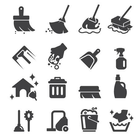 dweilen: reiniging pictogram