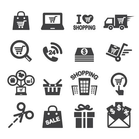 centro comercial: icono de las compras Vectores