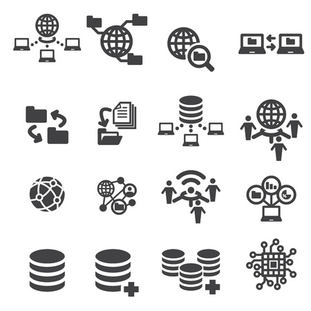 data exchange: tectnology and data icon