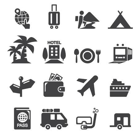 旅行: 旅行圖標