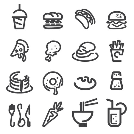 lo mein: food line icon
