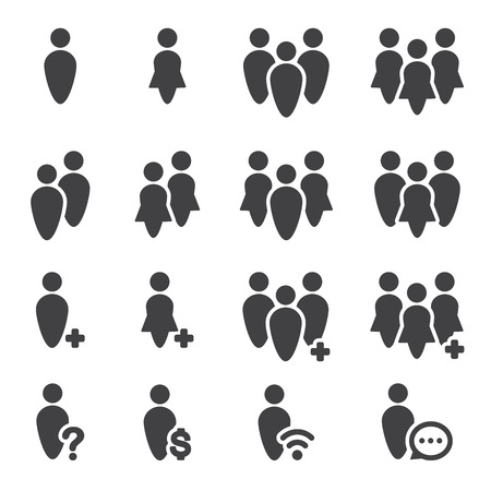 group icon: people icon set