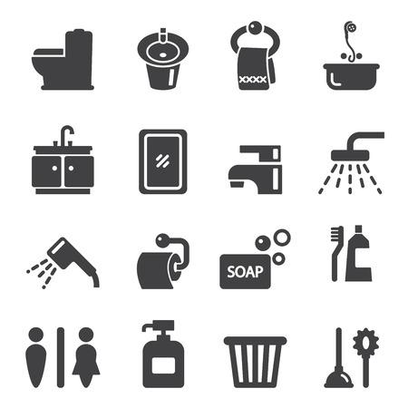 bathroom icon: bathroom icon Illustration
