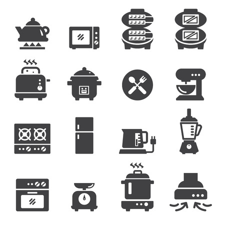 rice cooker: food electric icon Illustration