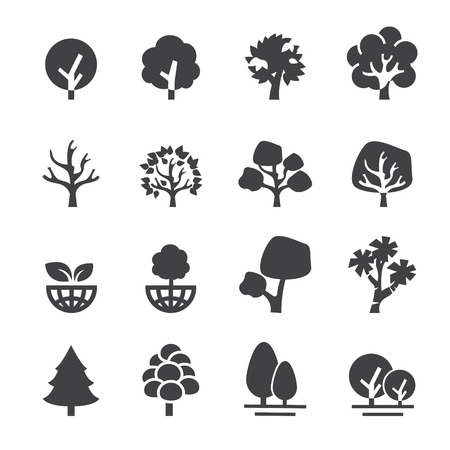 ecology icons: tree icon