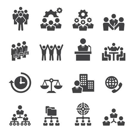 hombres ejecutivos: icono empresarial Vectores
