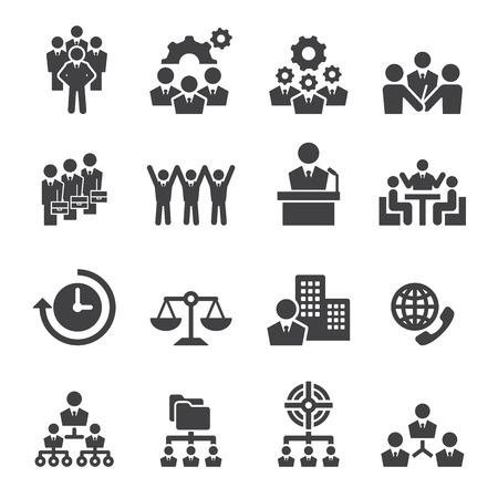 biznes: Ikona biznesu Ilustracja