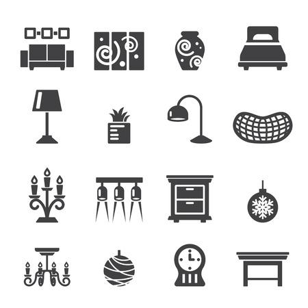 Iconos decoración del hogar Foto de archivo - 41222814
